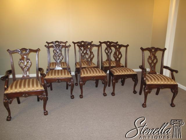 15849: Offered For Sale Are The Set Of 8, Solid Mahogany, Chippendale Style Dining  Room Chairs. These Are The Rittenhouse Square Model And Feature Fine ...