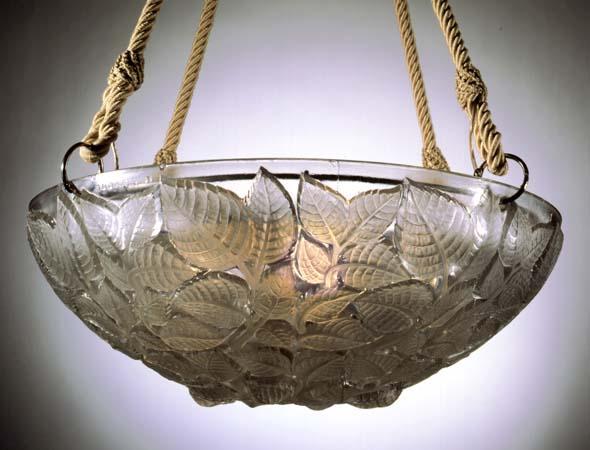 Rene Lalique Charmes Chandelier Design 1924 For Sale