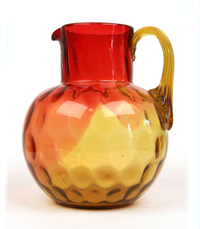 Amberina Water Pitcher For Sale Antiques Com Classifieds