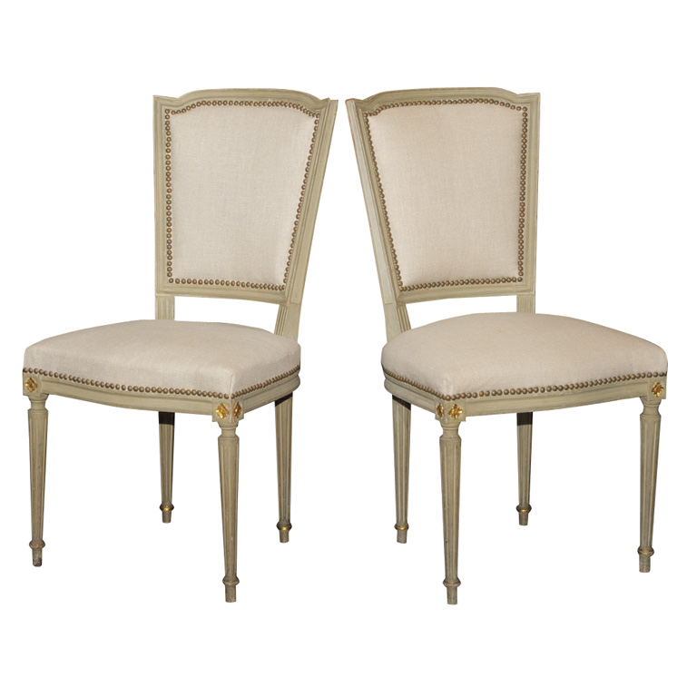 A PAIR OF LOUIS XVI STYLE CHAIRS   For SaleA PAIR OF LOUIS XVI STYLE CHAIRS For Sale   Antiques com   Classifieds. Louis Xvi Style Furniture For Sale. Home Design Ideas