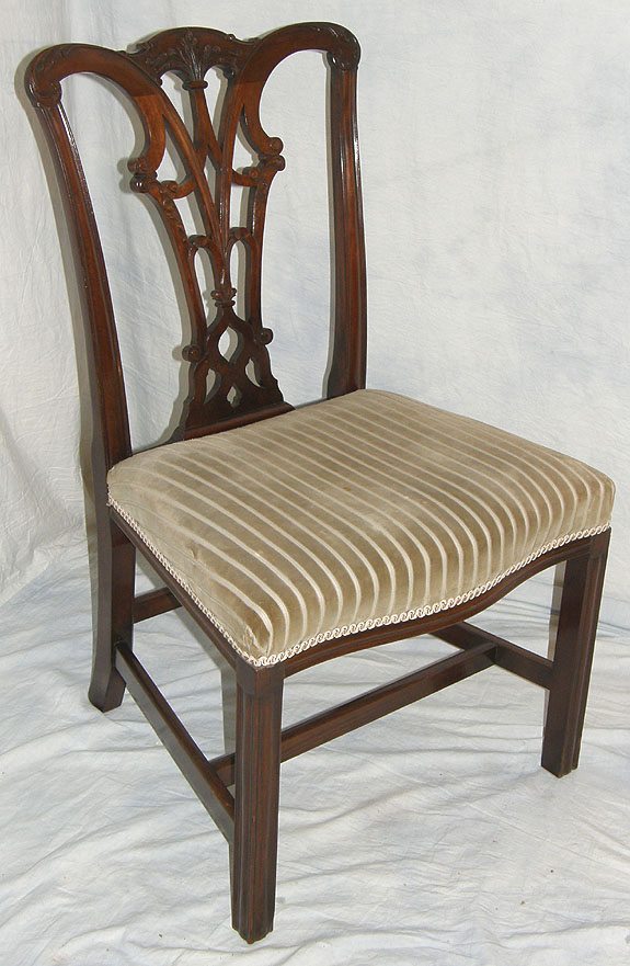 Chippendale Period Mahogany Chair For Sale