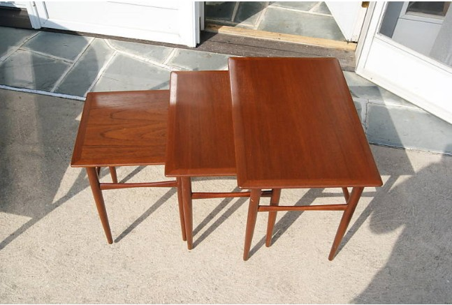 3 Mid Century Italian Nesting Tables   For Sale