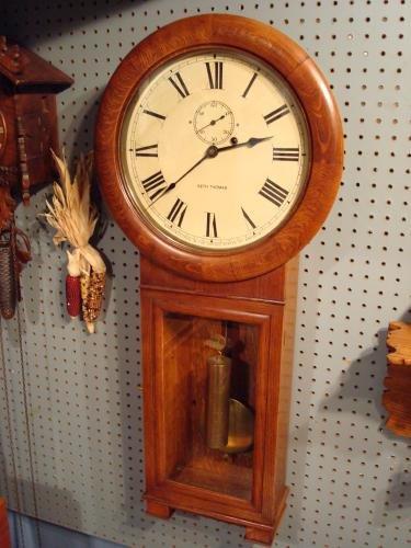Seth thomas 2 eight day wall regulator for sale for Seth thomas wall clocks value