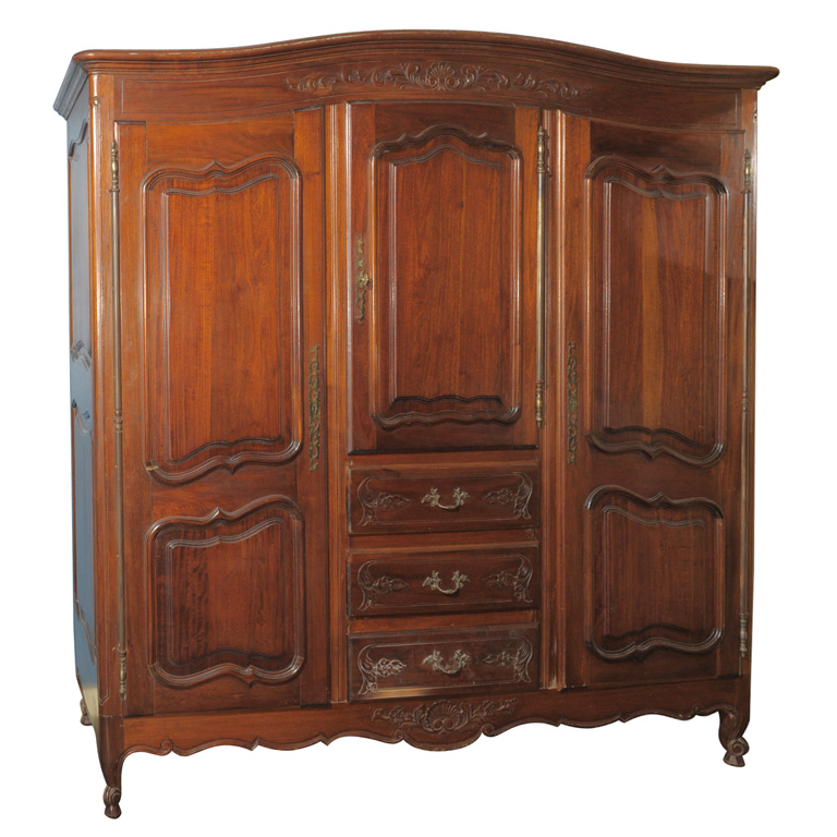 LARGE THREE DOOR MAHOGANY ARMOIRE For Sale | Antiques.com ...