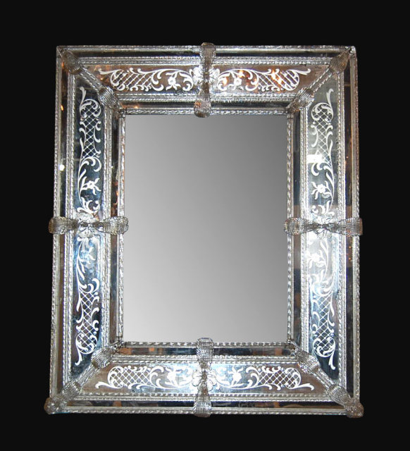 Venetian Glass Mirror For Sale Antiques Com Classifieds