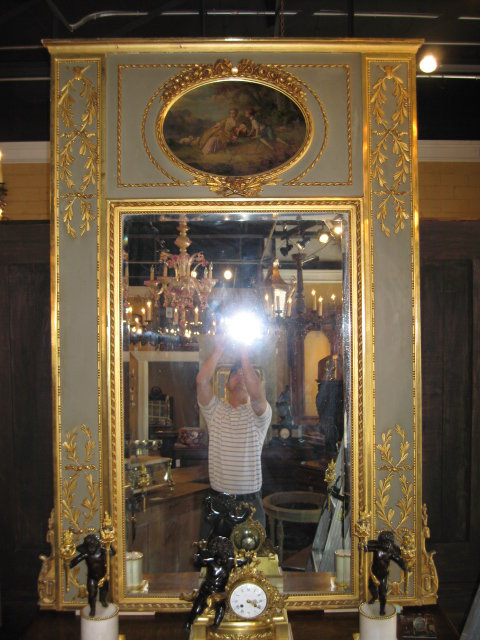 An outstanding french trumeau mirror for sale antiques for Mirrors for sale