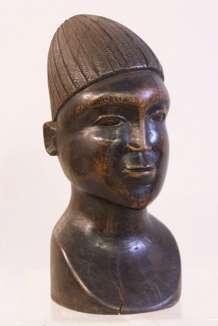 African Carved Wood Head Sculpture C1950 Item 6286 For