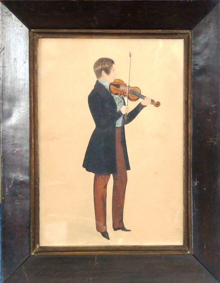 Boy Playing Violin Drawing Young Boy Playing a Violin