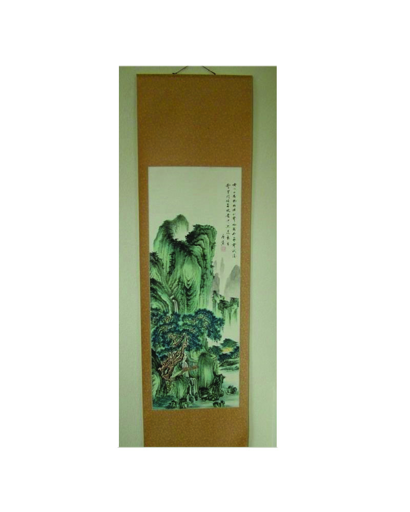 Antique Scroll Art: Vintage SIGNED & SEALED Chinese Scroll W/C Painting For