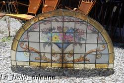 Gorgeous Spanish Arched Stained Glass Window L K For