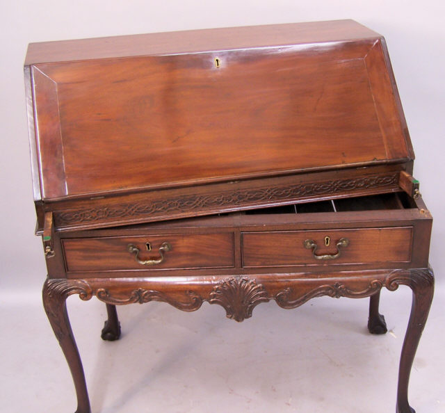 chippendale drop front desk c1840 to 1860