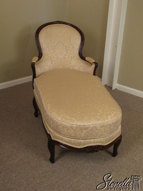 15762 louis xv style upholstered chaise lounge for sale for Antique chaise lounge prices