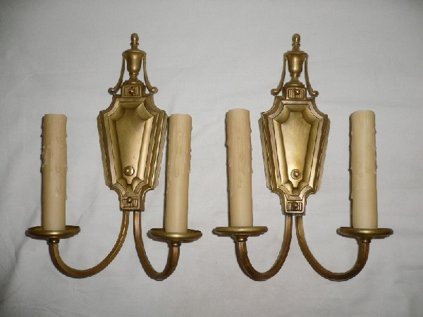 Antique Georgian Wall Sconces : Six Matching Large Georgian Style Antique Sconces, c. Early 1900 s -- ONE PAIR AVAILABLE ...