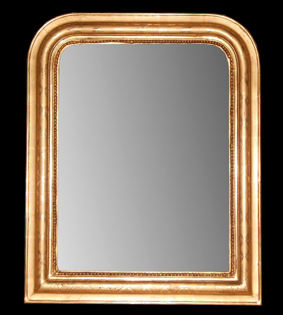 Petite French Gilded Louis Philippe Mirror For Sale : Antiques.com ...