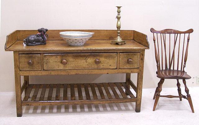 early irish furniture dairy table c1820 to 1840 item