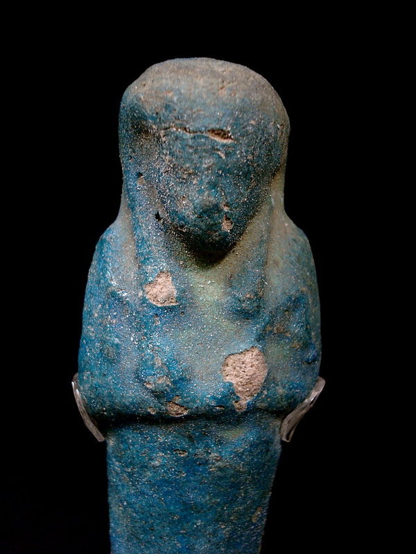 Egyptian dark blue turquoise faience ushabti 1000 bc for for Faience turquoise