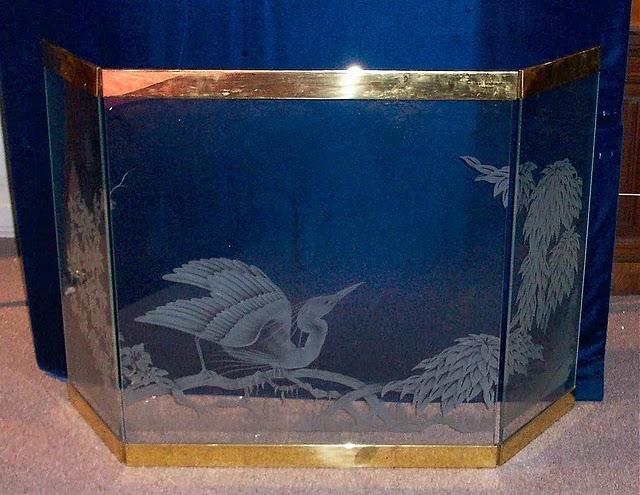 Original Art Deco Etched Glass Fire Screen Ffs24 For Sale Classifieds