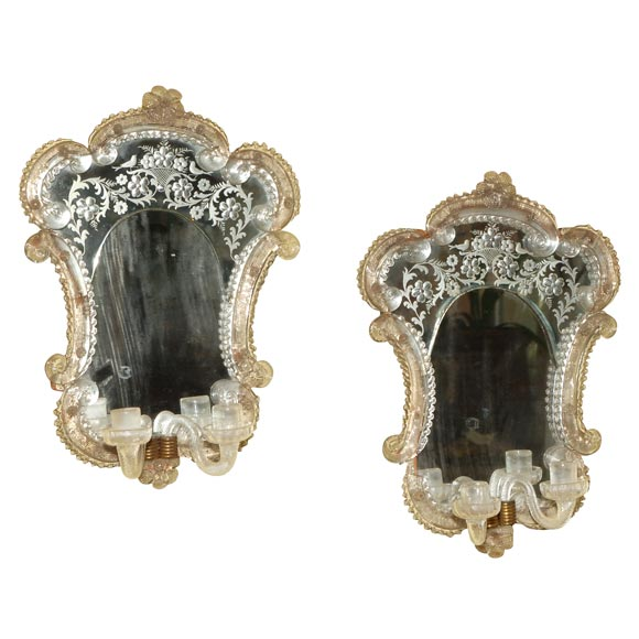VENETIAN MIRROR SCONCES For Sale | Antiques.com | Classifieds