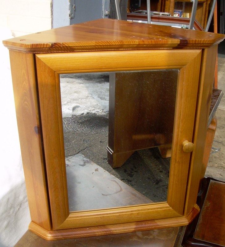 Small pine corner medicine cabinet For Sale   Antiques.com ...