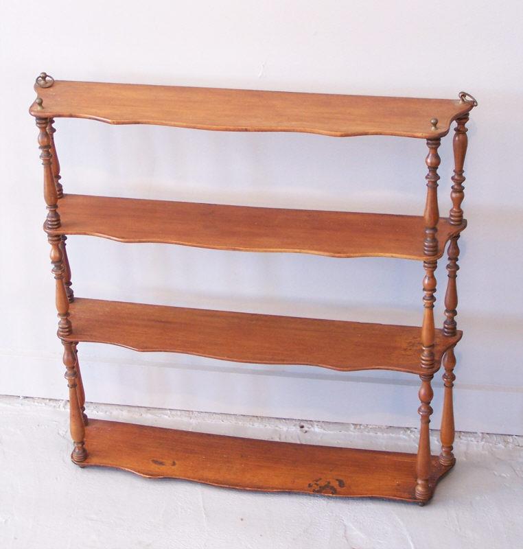 new england c 1800 mahogany wall shelf item 6901 for. Black Bedroom Furniture Sets. Home Design Ideas