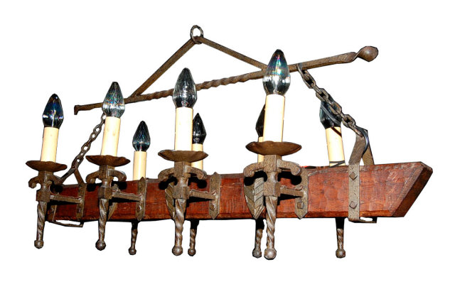 Rustic french iron wood chandelier for sale antiques rustic french iron wood chandelier for sale aloadofball Images