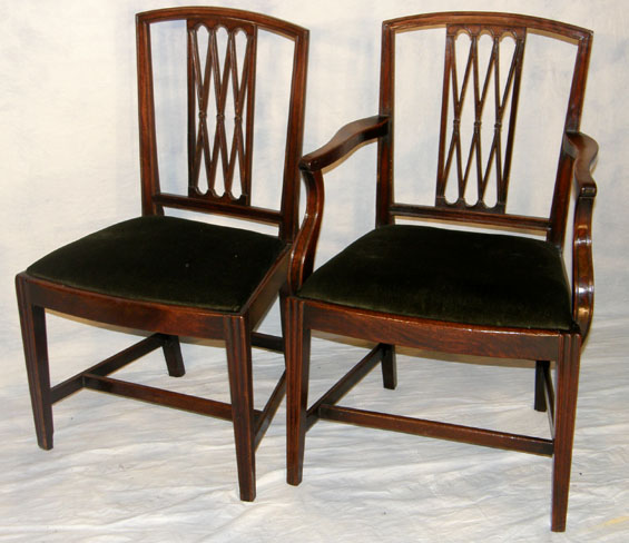 Set 6 Mahogany Dining Chairs For Sale