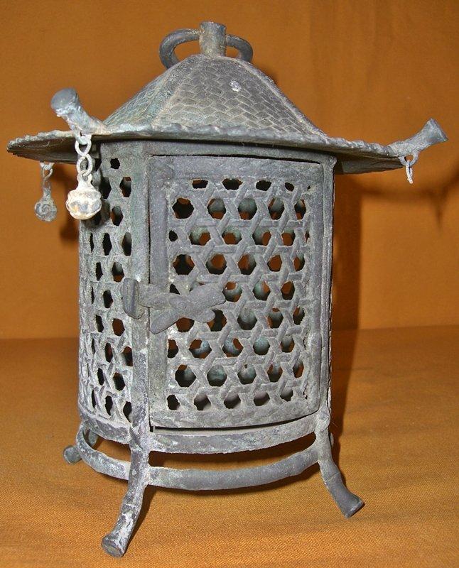 Antique Japanese Bronze Hanging Garden Lantern For Sale Classifieds