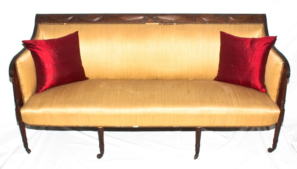 Early 19th C American Duncan Phyfe New York Sofa With Original Old Dry Surface Circa 1800 1820