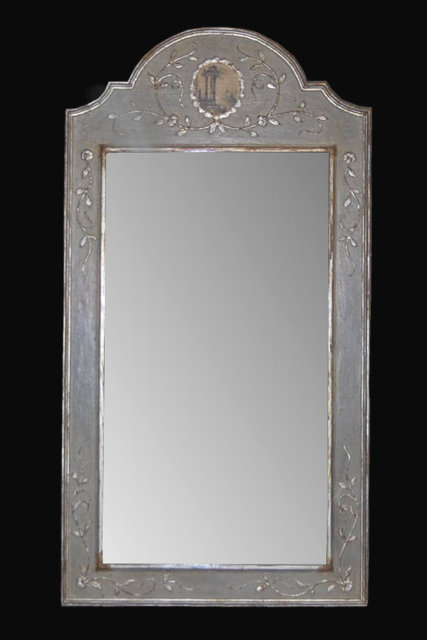Italian lacquered silver gilt mirror for sale antiques for Silver framed mirrors on sale
