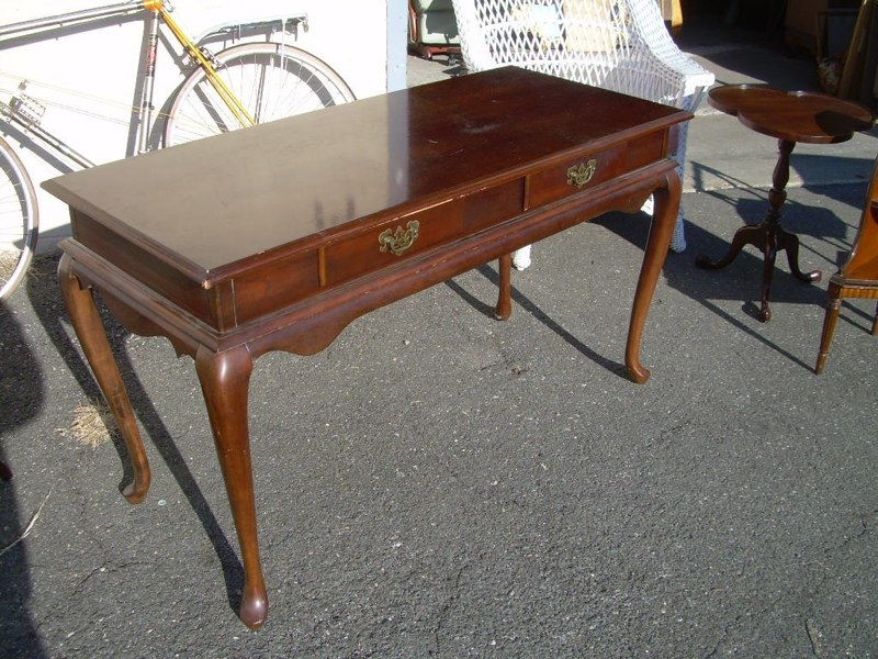Queen Anne style writing desk. Antique Furniture - Queen Anne Style Writing Desk For Sale Antiques.com Classifieds