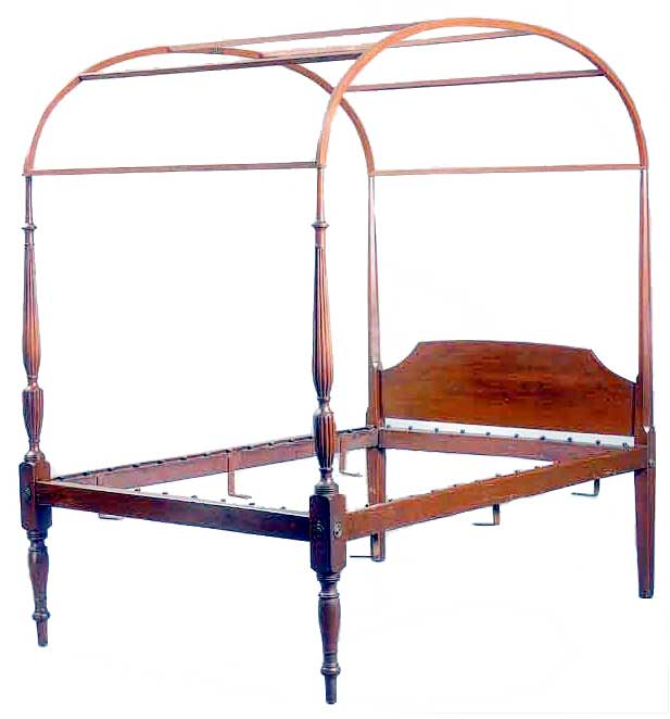 superb early 19th c american federal tall turned and. Black Bedroom Furniture Sets. Home Design Ideas
